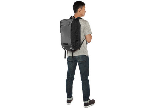 Man with Timbuk2 backpack