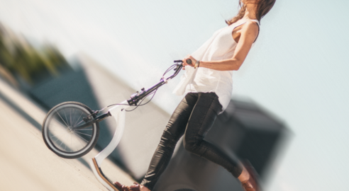 Flykly Smart Ped Folding Kick-Assist Scooter
