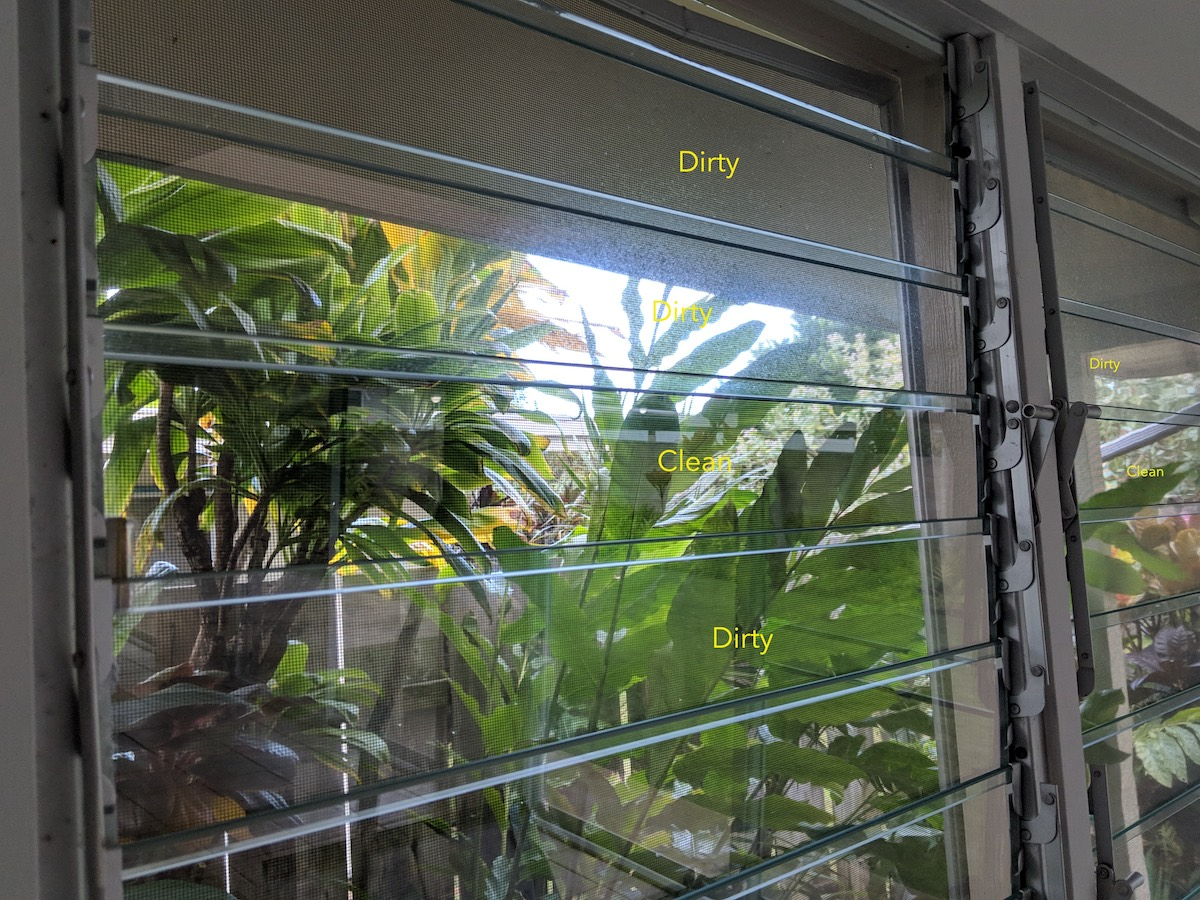 Different ways to clean Jalousie (louvered) windows.